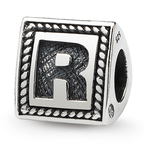 Jewelry Beads Alphabet /& Numbers Sterling Silver Reflections Letter Y Triangle Block Bead