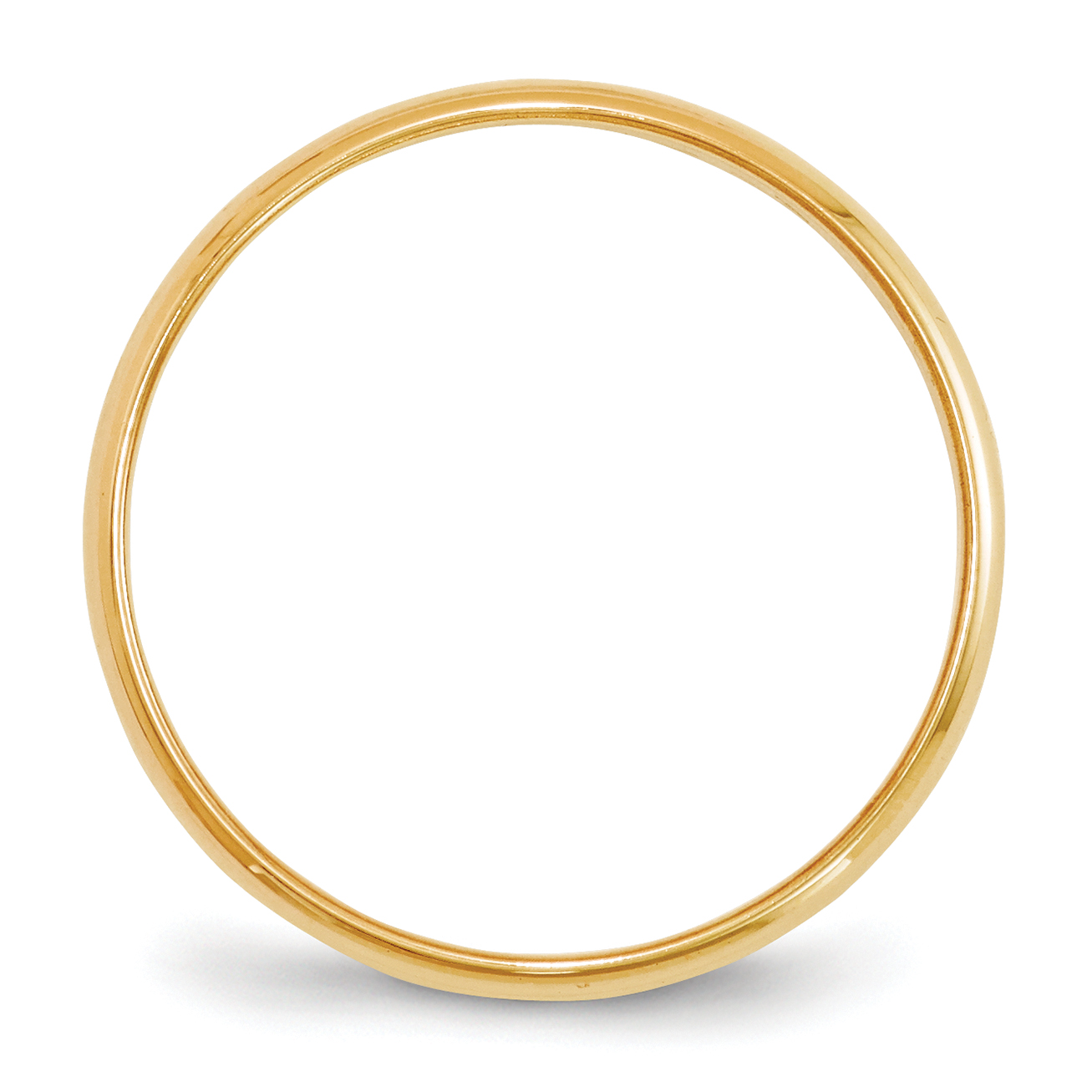 10k Yellow Gold 2mm Half Round Band 2mm Ebay