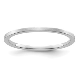 10K White Gold 1.2mm Flat Satin Stackable Band