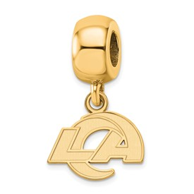 SS Gold-plated NFL LogoArt Los Angeles Rams Extra Small Dangle Charm