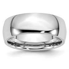 Chisel Cobalt Chromium Polished 8mm Band