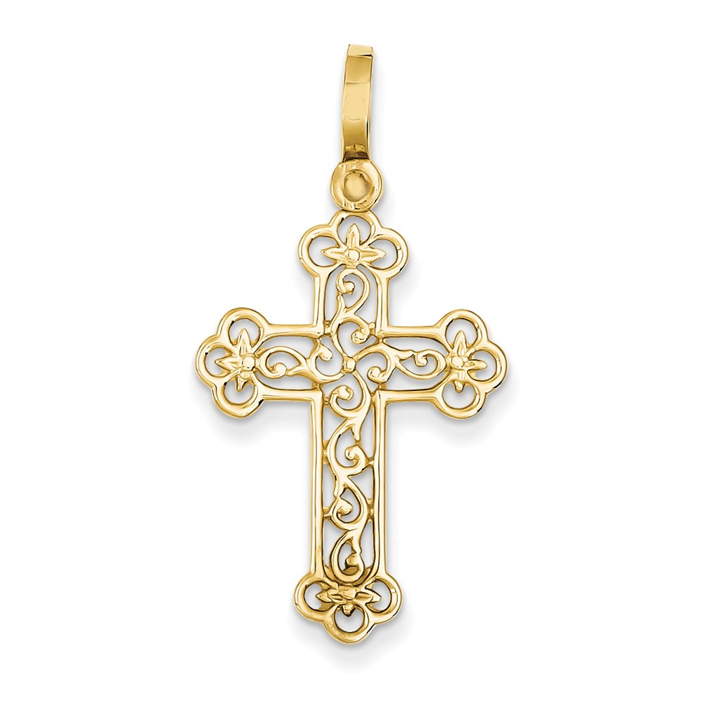 Jewelry Brothers 14k Filigree Budded Cross Pendant at Sears.com