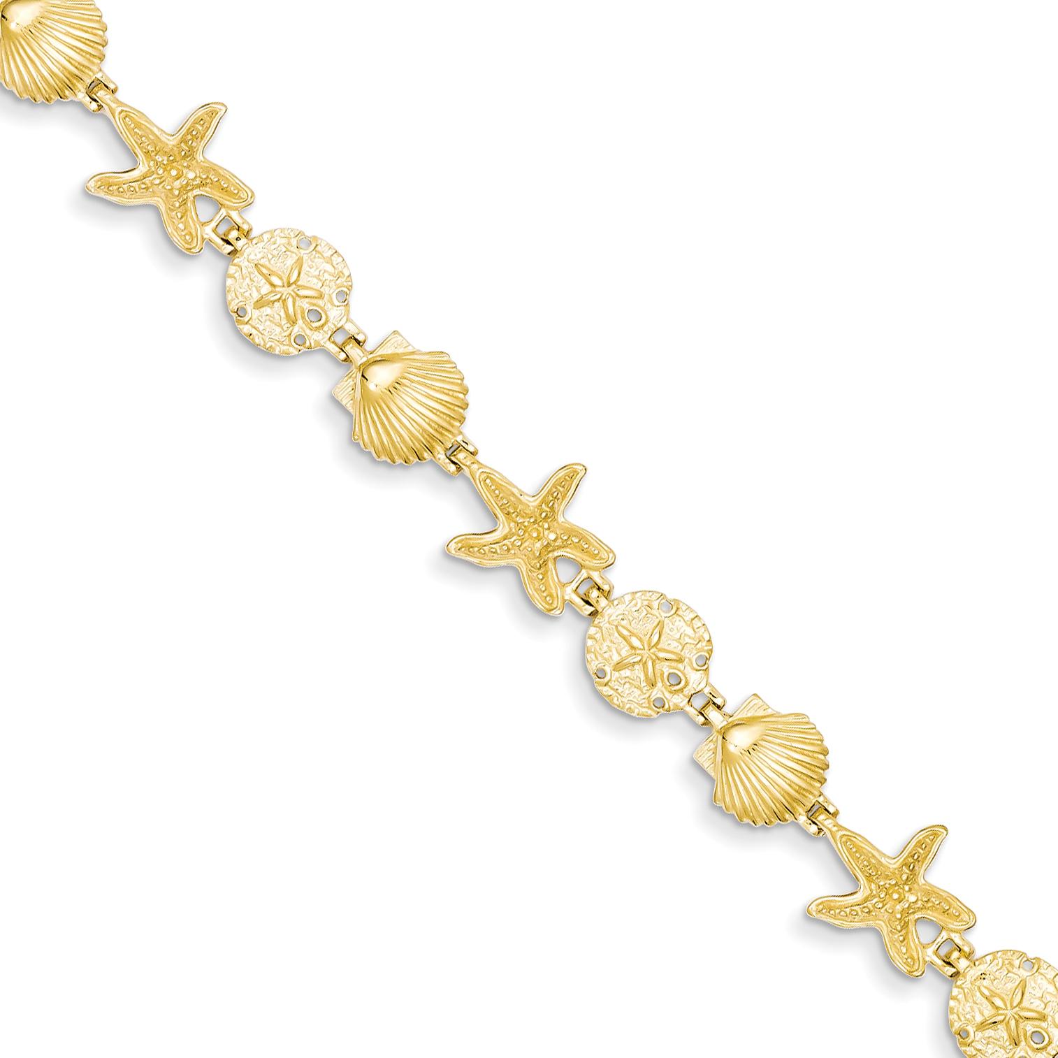 Core Gold 14k Seashell Theme Bracelet