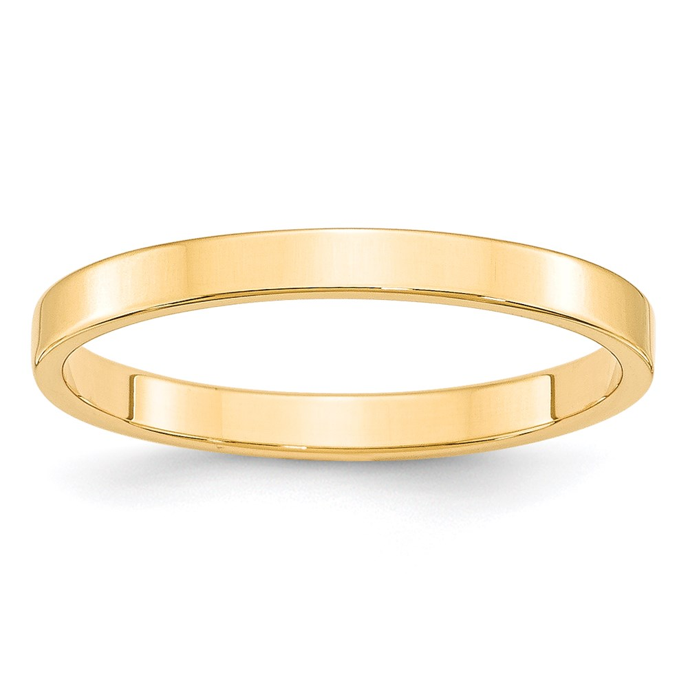 Jewelry Brothers 14KY 2.5mm LTW Flat Band Size 7 at Sears.com