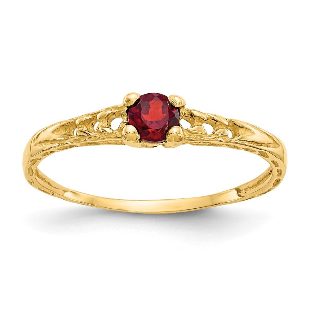 Jewelry Brothers 14k Madi K 3mm Garnet Birthstone Baby Ring