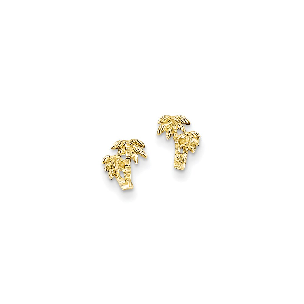 Vishal Jewelry 14K Double Palm Tree Post Earrings