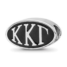 Sterling Silver Logoart Kappa Kappa Gamma Oval Letters Bead