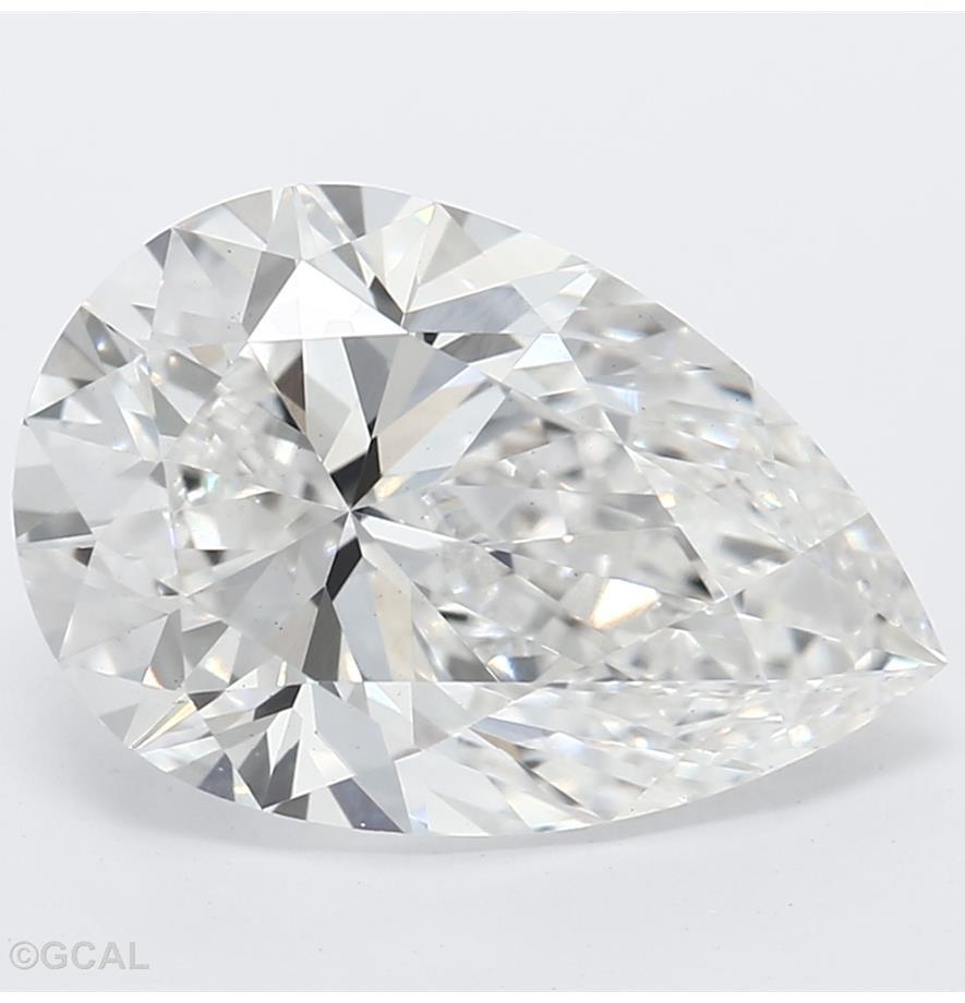 2.20-Carat Lab Created Ideally Cut Pear Diamond