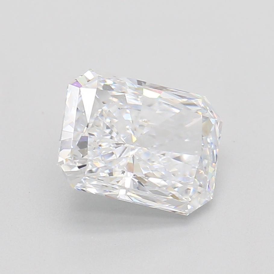 0.91-Carat Lab Created Ideally Cut Radiant Diamond