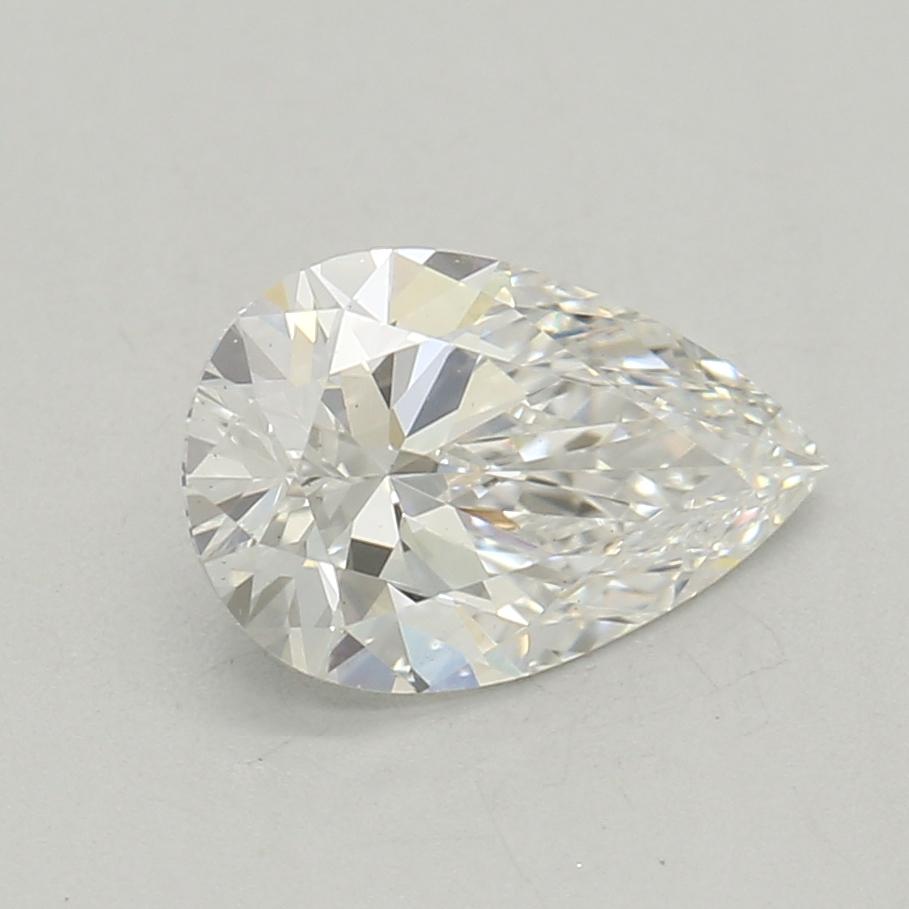 0.53-Carat Lab Created Ideally Cut Pear Diamond