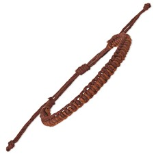 Chisel Adjustable Small Dark Brown and Brown Braided Cotton Bracelet Set
