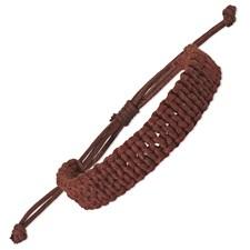 Chisel Adjustable Brown Braided Cotton Bracelet Set