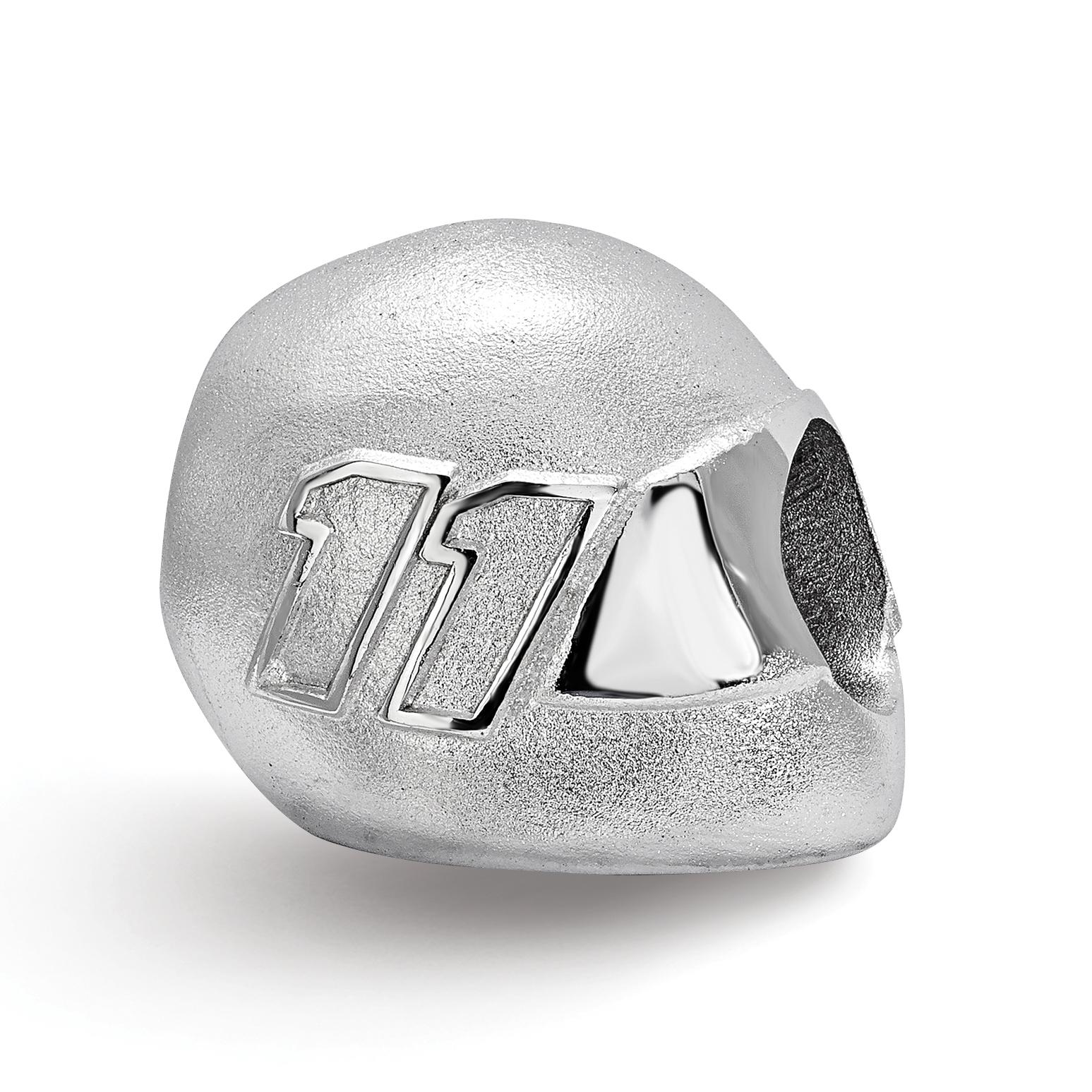 11 x 11 mm Reflection Beads Sterling Silver Black Enamel Bead