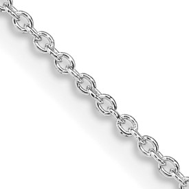 Reflection Beads Sterling Silver Rhodium-Plated Cable Chain