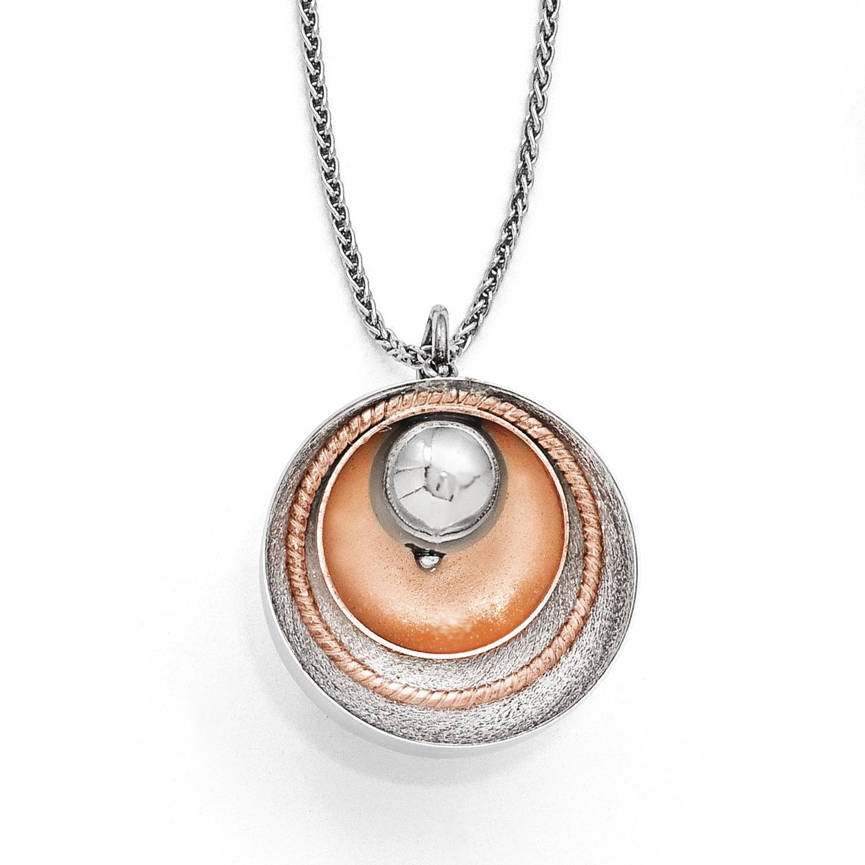 Leslie's Sterling Silver Rose Gold-plated Polished Pendant