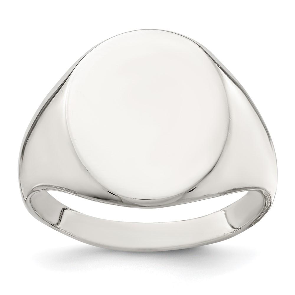sterling silver 17x13mm signet ring ebay