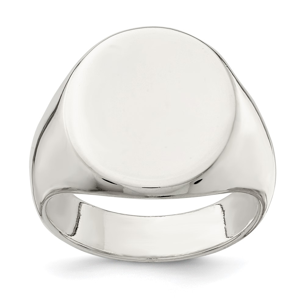 sterling silver 19x16mm solid back signet ring ebay