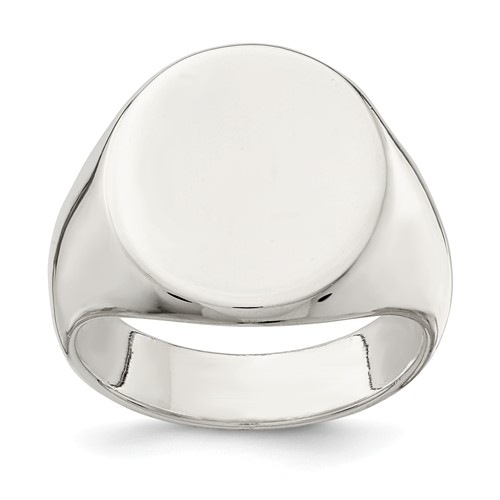 sterling silver 19x16mm solid back signet ring ebay