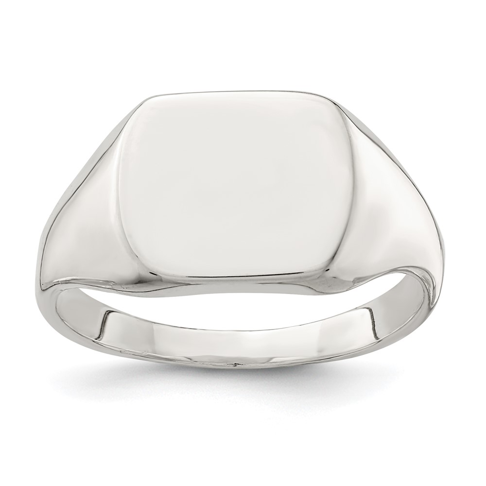 sterling silver 12 5x14mm solid back signet ring ebay