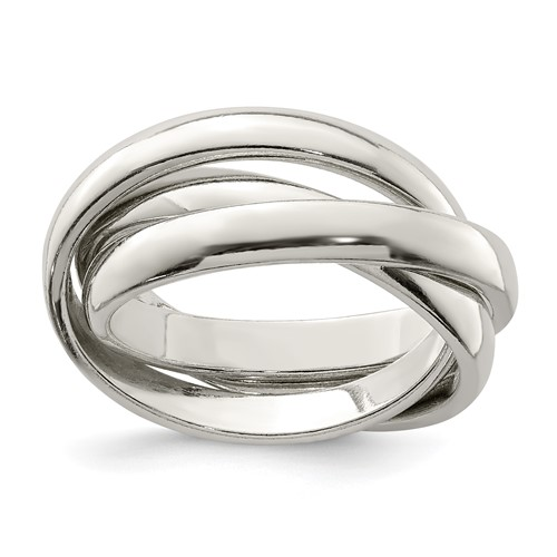 sterling silver rolling band ring ebay