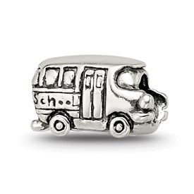 Reflection Beads Sterling Silver Kids Bus Bead