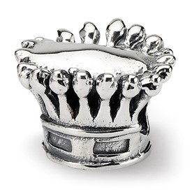 Reflection Beads Sterling Silver Kids Crown Bead