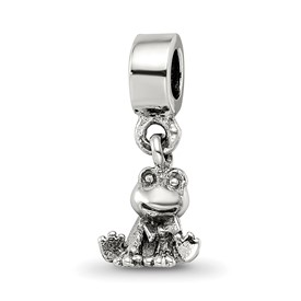 Reflection Beads Sterling Silver Kids Frog Dangle Bead