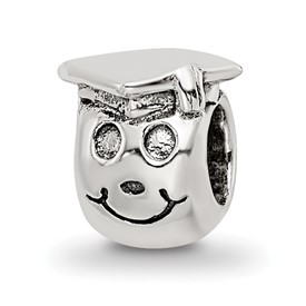 Reflection Beads Sterling Silver Kids Happy Graduate Bead