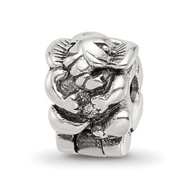 Reflection Beads Sterling Silver Kids Elephant Clip Bead