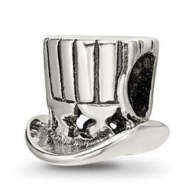 Reflection Beads Sterling Silver Uncle Sam Tophat Bead