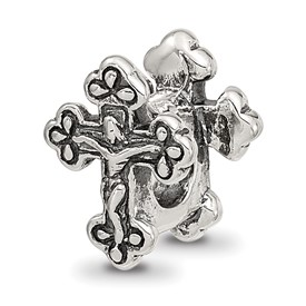 Reflection Beads Sterling Silver Crucifix Bead