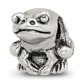 Reflection Beads Sterling Silver Kids Frog Bead