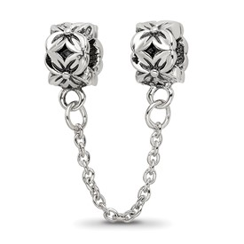 Reflection Beads Sterling Silver Security Chain Floral Bead