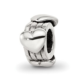 Reflection Beads Sterling Silver Kids Hearts Bead
