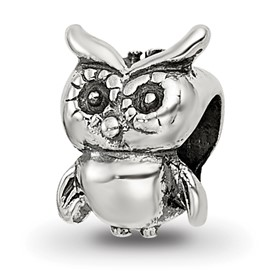 Reflection Beads Sterling Silver Kids Owl Bead