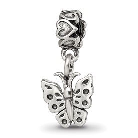 Reflection Beads Sterling Silver Kids Butterfly Dangle Bead