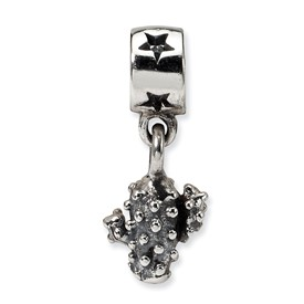Reflection Beads Sterling Silver Kids Cactus Dangle Bead