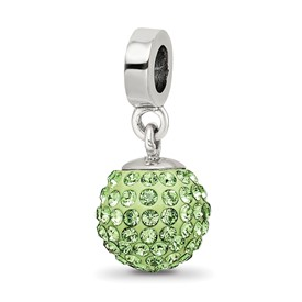 Reflection Beads Sterling Silver August Swarovski Elements Ball Dangle Bead