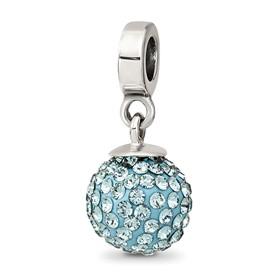 Reflection Beads Sterling Silver December Swarovski Elements Ball Dangle Bead