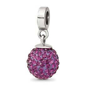 Reflection Beads Sterling Silver February Swarovski Elements Ball Dangle Bead