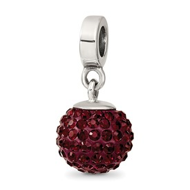 Reflection Beads Sterling Silver January Swarovski Elements Ball Dangle Bead