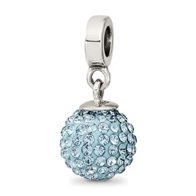 Reflection Beads Sterling Silver March Swarovski Elements Ball Dangle Bead