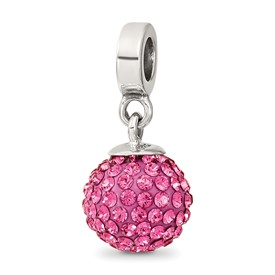 Reflection Beads Sterling Silver October Swarovski Elements Ball Dangle Bead