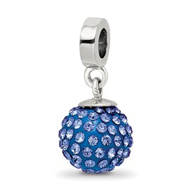 Reflection Beads Sterling Silver September Swarovski Elements Ball Dangle Bead