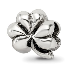 Reflection Beads Sterling Silver Clover Bead
