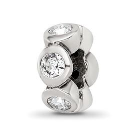Reflection Beads Sterling Silver April Swarovski Elements Birthstone Bead