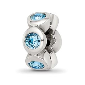 Reflection Beads Sterling Silver March Swarovski Elements Birthstone Bead