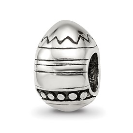 Reflection Beads Sterling Silver Easter Egg Bead