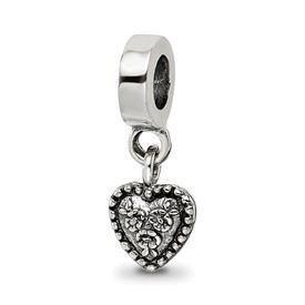 Reflection Beads Sterling Silver Heart Dangle Bead