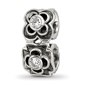 Reflection Beads Sterling Silver CZ Connector Bead